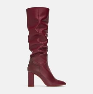 Zara leather boots (6019)